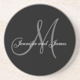 Custom Monogram Wedding Anniversary Coasters