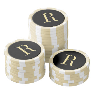 Custom Monogram Wedding Fathers Day Poker Chips