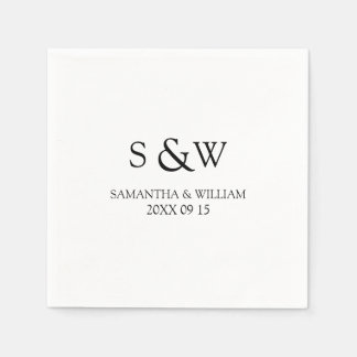 Custom Monogram Wedding Napkins Disposable Napkin