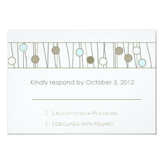 "Custom_Monogram Wedding RSVP 3.5"" X 5"" Invitation Card"