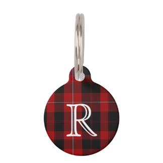 Custom Monogramed Cunningham Plaid Dog Tag