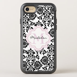 Custom Monogramed Damask OtterBox Symmetry iPhone 8/7 Case