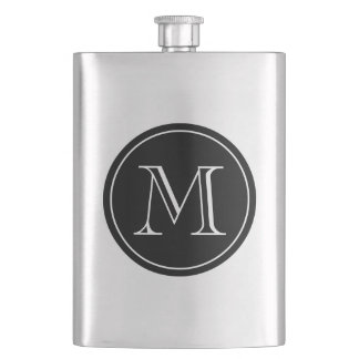 Custom monogrammed initialed stainless steel flask