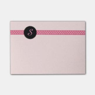Custom Monogrammed Ribbon Post-it® Notes