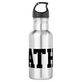 Custom monogrammed stainless steel water bottle