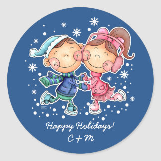 Custom Monograms Fun Christmas Gift Stickers