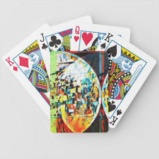 Custom Moon Into Disco Design Bicycle Playing Cards