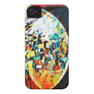 Custom Moon Into Disco Design iPhone 4 Case