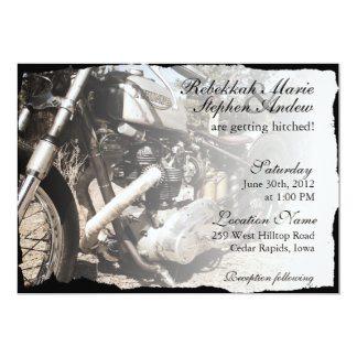 Custom Motorcycle Biker Wedding Invitation