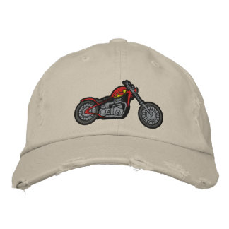 Custom Motorcycle Embroidered Hat
