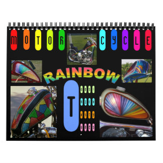 Custom Motorcycle paint midi 12 month Calendar