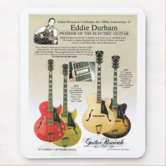 Custom Mousepad of Eddie Durham Centennial Guitars
