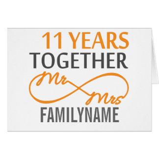 Custom Mr and Mrs 11th Anniversary Card