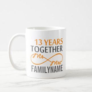 Custom Mr and Mrs 13th Anniversary Coffee Mug