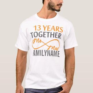 Custom Mr and Mrs 13th Anniversary T-Shirt