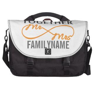 Custom Mr and Mrs 7th Anniversary Laptop Commuter Bag