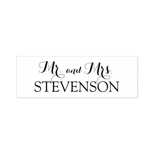 Custom Mr. and Mrs. Wedding Stamper Self-inking Stamp