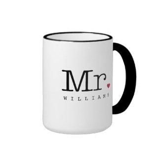 Custom Mr. Coffee Mug | Black, White, Red