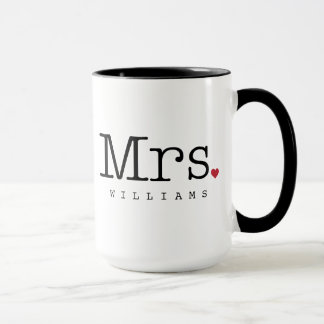 Custom Mrs. Coffee Mug | Black, White, Red