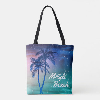 Custom Mrytle Beach Tote Bags | Palm Trees