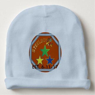 Custom MTFL SteelboyZ logo baby beanie hat.