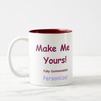 Custom Mugs In a Variety of styles sizes and color