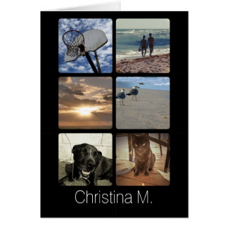Custom Multi Photo Mosaic Picture Collage Card