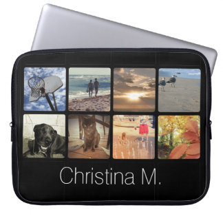 Custom Multi Photo Mosaic Picture Collage Laptop Sleeve