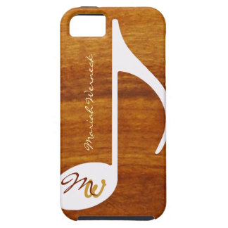 custom music note on wood case for the iPhone 5