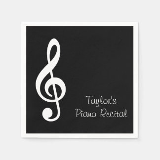 Custom Music Recital Party Napkins Disposable Napkin