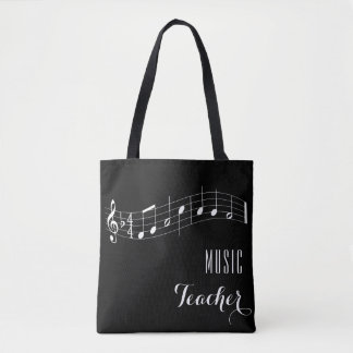 Custom Music Teacher Bag - Black