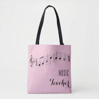 Custom Music Teacher Bag - Rose Pink
