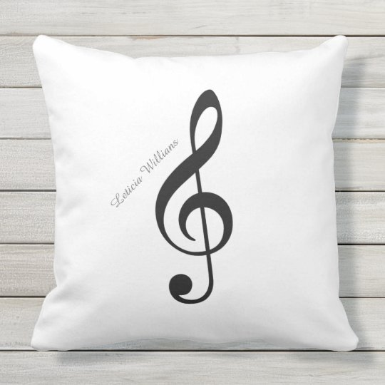 custom musical note throw pillow