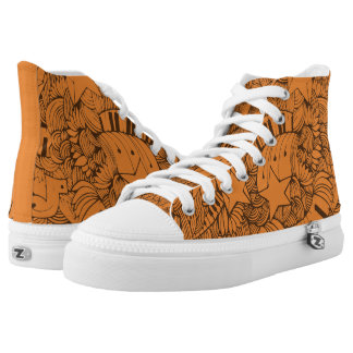 Custom Musical Piano Doodles. High Tops