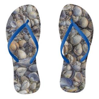 Custom mussels flip flops
