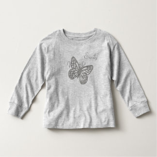 Custom My Silver Butterfly Light Toddler T-shirt