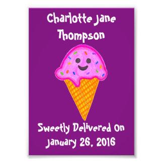 Custom Name 2 Sweet 4 U  Purple & Pink Wall Print