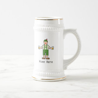Custom Name 8Bit German Beer Stein