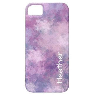 Custom Name Abstract Blue, Lilac and Pink Case For The iPhone 5
