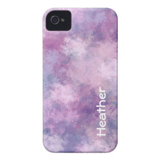 Custom Name Abstract Blue, Lilac and Pink iPhone 4 Cover