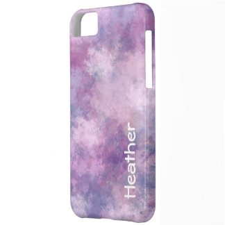 Custom Name Abstract Blue, Lilac and Pink iPhone 5C Cover