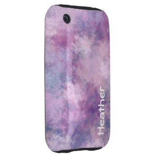 Custom Name Abstract Blue, Lilac and Pink Tough iPhone 3 Covers