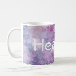 Custom Name Abstract Blue, Lilac, Pink Coffee Mug