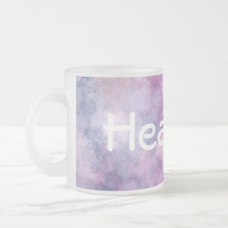 Custom Name Abstract Blue, Lilac, Pink Frosted Glass Coffee Mug