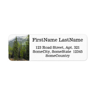 Custom Name/Address + Forest and Mountain Scene
