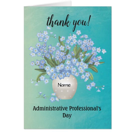Custom Name Administrative Professional's Day Card