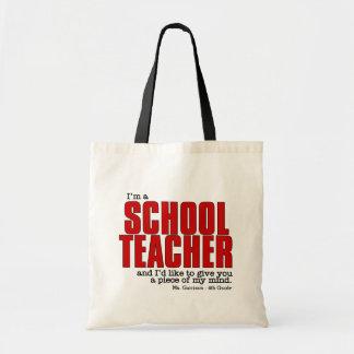 Custom Name and Class Funny Teacher's Budget Tote Bag