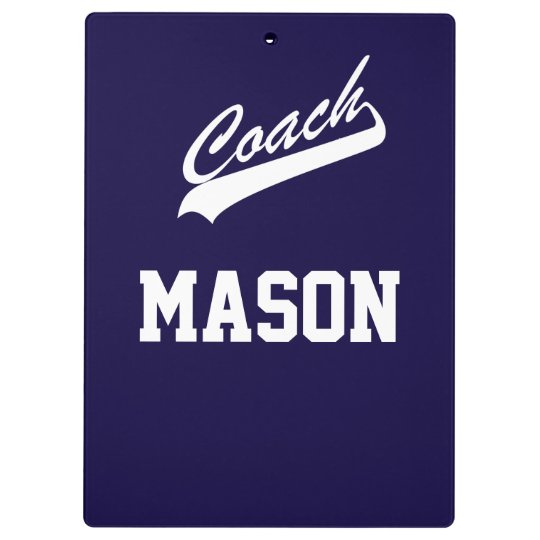 Custom Name and Colour Sports Coach Clipboard