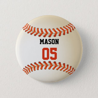 Custom Name and Number Template Baseball Sports 2 Inch Round Button