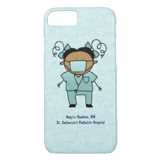 Custom Name and Occupation Medical Woman Blue iPhone 7 Case